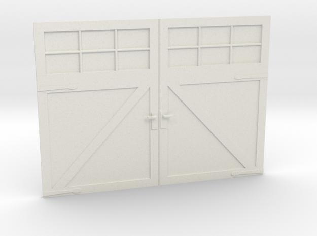 1:24 Scale Settlers Garage Door in White Strong & Flexible