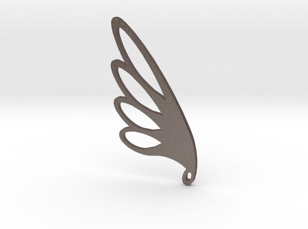Feather Falling in Polished Bronzed Silver Steel