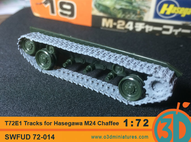 T72E1 tracks for Hasegawa M24 Chaffee 1/72 scale S