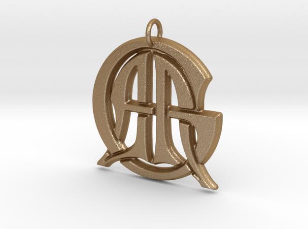 Monogram Initials AAG Pendant