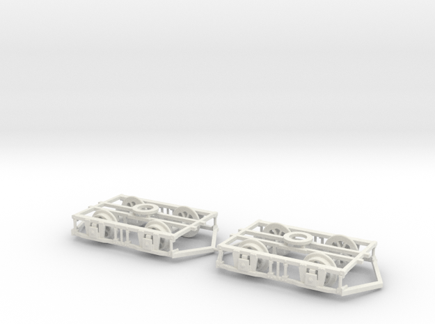 Lancaster Bogies With Ploughs And Wheels in White Strong & Flexible