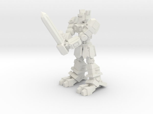 K1A7 'Knight'  in White Natural Versatile Plastic