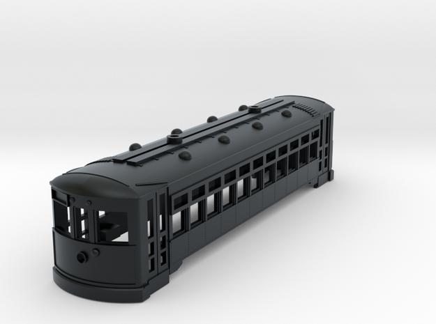 HO Scale 2 Truck Birney Shell in Black Hi-Def Acrylate