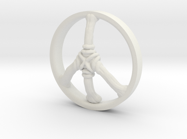 Ring Part Peace in White Natural Versatile Plastic