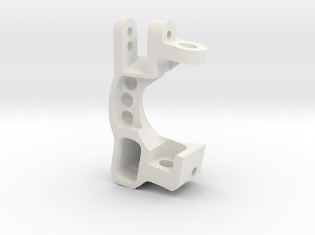 Slash 0deg Caster Block R in White Natural Versatile Plastic