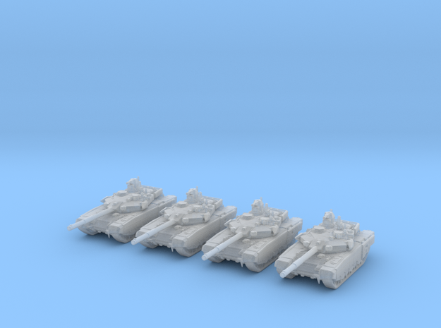 1/285 Scale Russian T-90MS Tank Set (4)