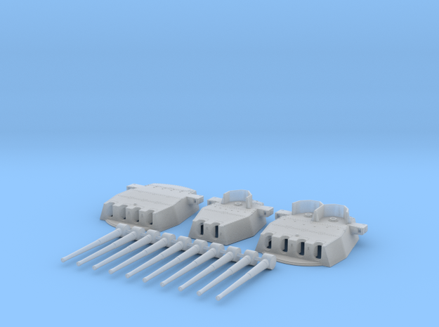"""1/350 HMS King George V 14"""" Turrets 1941 in Smooth Fine Detail Plastic"""