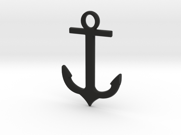 Anchor pendant in Black Strong & Flexible