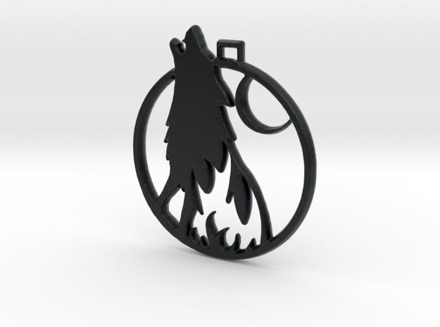 Wolf Pendant in Black Hi-Def Acrylate