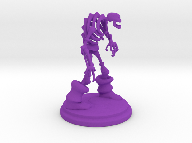 Skeleton  in Purple Processed Versatile Plastic
