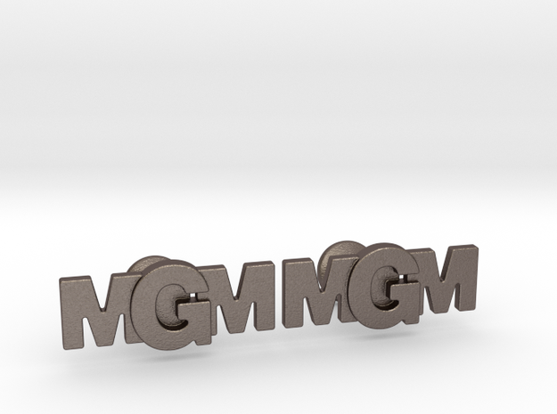Monogram Cufflinks MMG in Stainless Steel