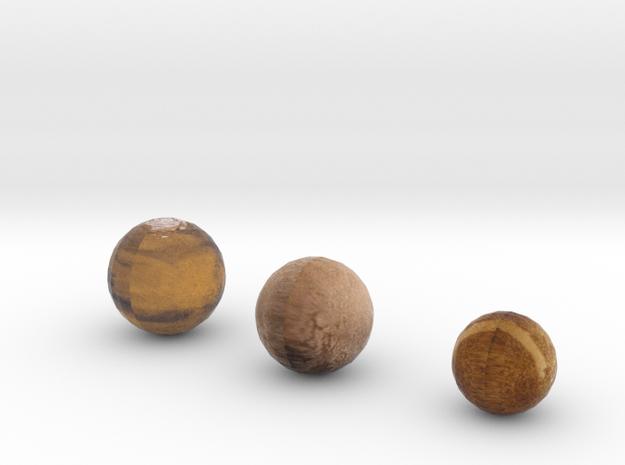 Mercury Mars and Pluto in Full Color Sandstone