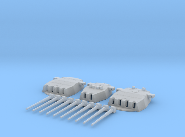 """1/350 HMS King George V 14"""" Turrets 1942 in Smooth Fine Detail Plastic"""