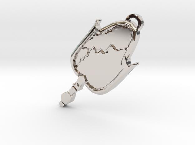 Malcavian clan symbol pendant in Rhodium Plated Brass