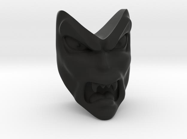 D&D Venger Angry Face in Black Natural Versatile Plastic