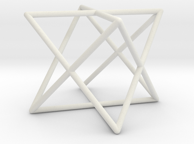 Star Tetrahedron D1 in White Natural Versatile Plastic
