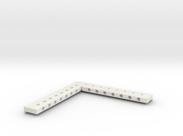 FOBA Laser Marker Magnetic Angle Bracket in White Natural Versatile Plastic
