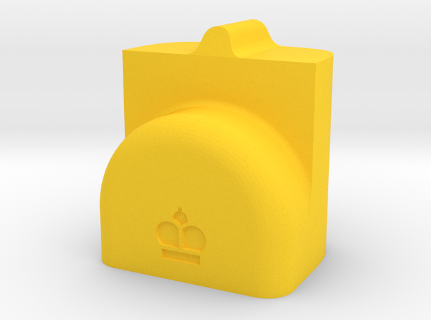 MILOSAURUS Chess Shatranj King (shah) in Yellow Processed Versatile Plastic