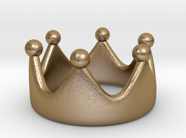 princess crown ring II in Polished Gold Steel