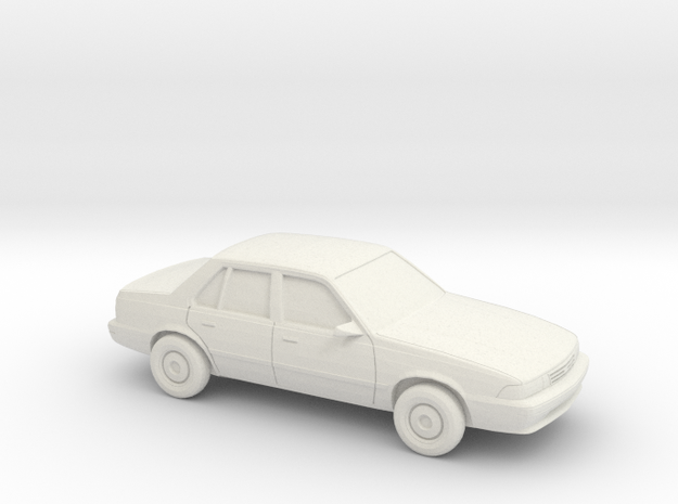 1/43 1988-93 Chevrolet Cavalier Sedan in White Natural Versatile Plastic