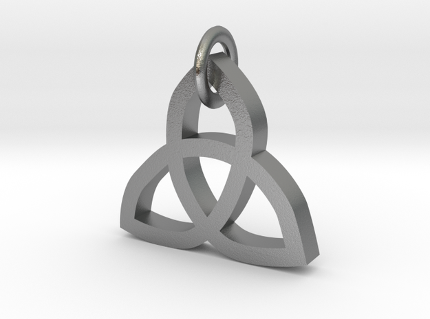 Triquetra  in Natural Silver (Interlocking Parts)