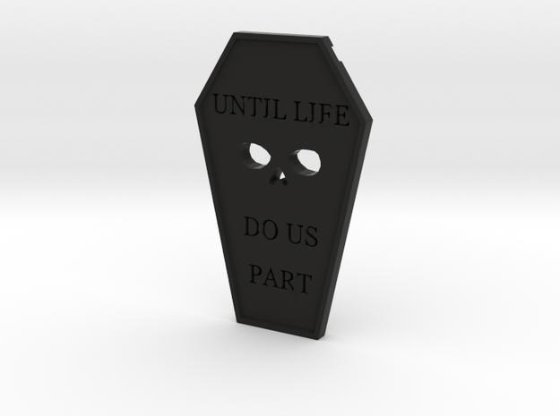 Minimalist Gothic Pendant in Black Strong & Flexible