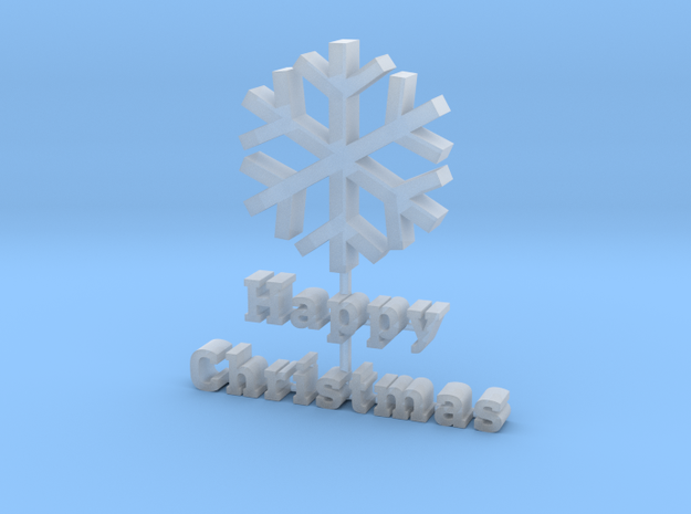 2016 Happy Christmas in Smooth Fine Detail Plastic