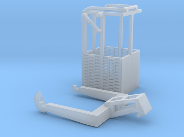1:50 Man basket for mini crawler crane  in Smooth Fine Detail Plastic