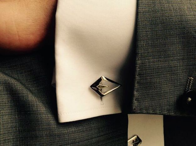 """Head To Head, Again"" Asymetric Cufflinks  3d printed"