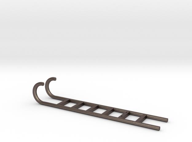 70'S TONKA WINNEBAGO REAR LADDER in Polished Bronzed Silver Steel: 1:10