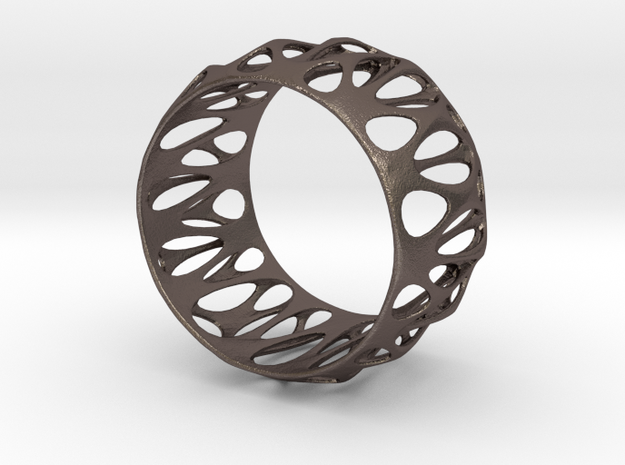 Parametric Cuff Bracelet in Stainless Steel