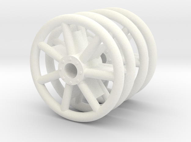 1:16 Panzer IV Idler Wheels Tubular/Welded/Early in White Strong & Flexible Polished