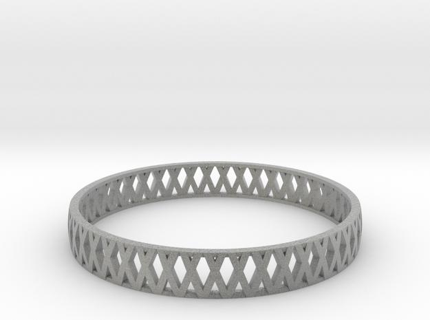 Crossed Bracelet  in Metallic Plastic