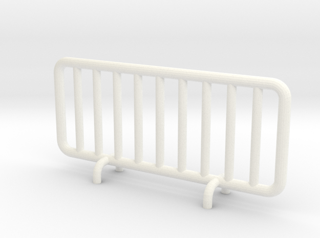 Transenna - Barrier in White Processed Versatile Plastic: 1:87 - HO