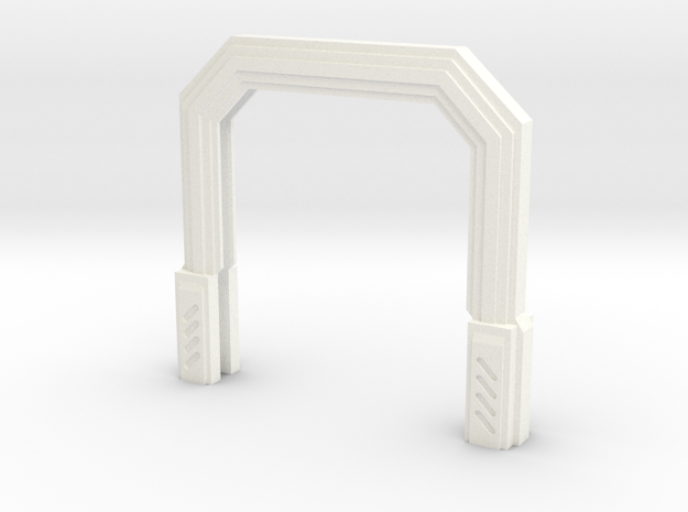 Imperial Assault Door Frame in White Strong & Flexible Polished