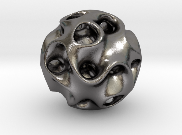 0607 IsoSurface F(x,y,z)=0 Diamond Ball (d=5cm) #2 in Polished Nickel Steel