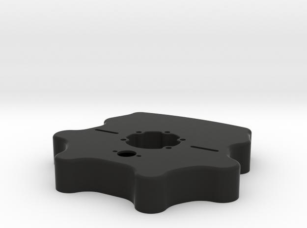 Button Plate Enclosure - Fits Mod27 in Black Natural Versatile Plastic