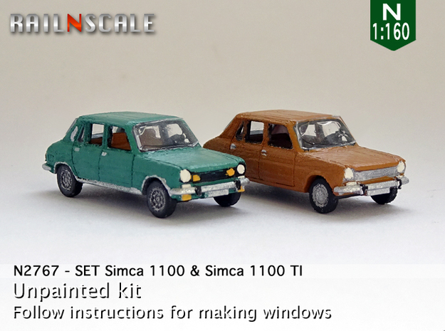 SET Simca 1100 & 1100 TI (N 1:160) in Frosted Ultra Detail