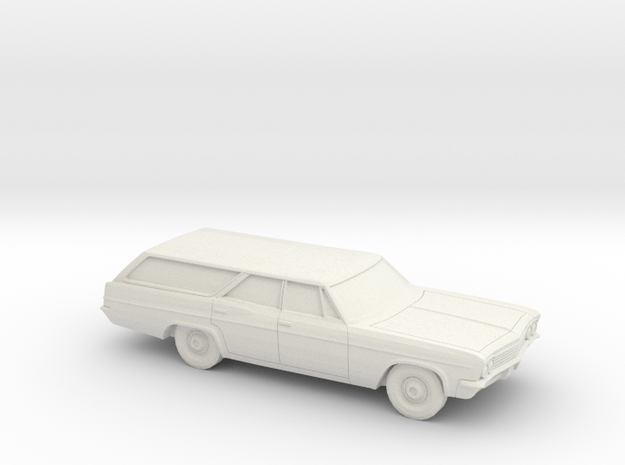 1/87 1966 Chevrolet BelAir Station Wagon in White Strong & Flexible