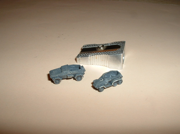SdKfz 247A+B Set of 5 1/285 6mm 3d printed