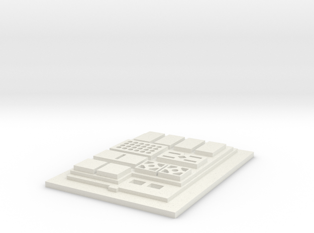 Commpad Config 1 Flat in White Strong & Flexible