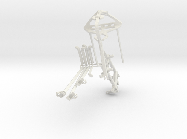 Controller mount for PS3 & Bike Mount in White Natural Versatile Plastic