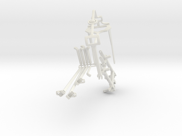 Controller mount for Xbox One & Bike Mount in White Natural Versatile Plastic