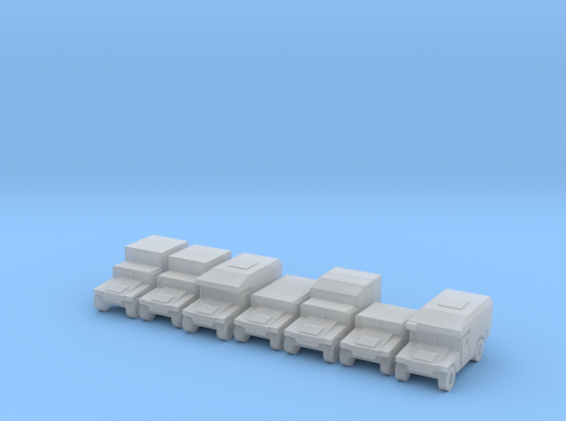 1/285 Humvee HMMWV 7 types in Smooth Fine Detail Plastic