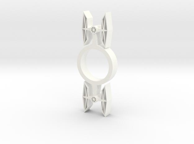 Tie Fighter Fidget Spinner in White Processed Versatile Plastic