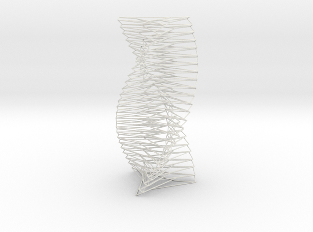 Wired Spiral Helix Tower Three Sided