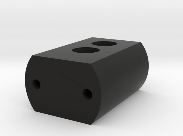 Upright, Trailing Arm, Bullet Racing in Black Natural Versatile Plastic