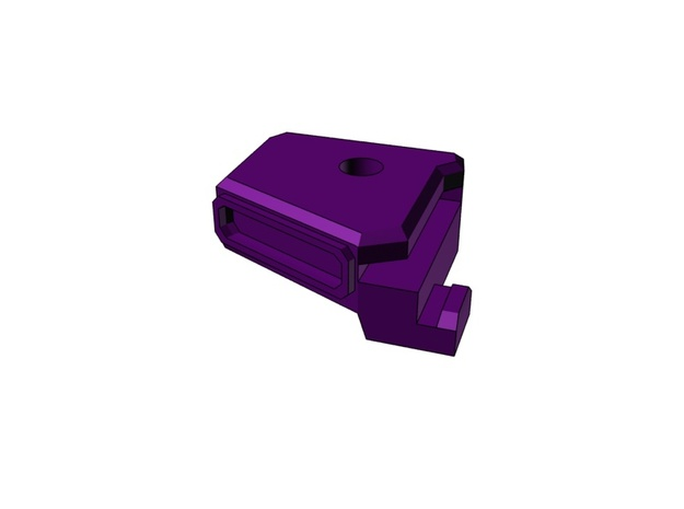 Cannon joint in Purple Processed Versatile Plastic