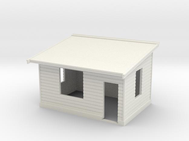 7mm Std Platform Level Signal Box - RH Door in White Natural Versatile Plastic