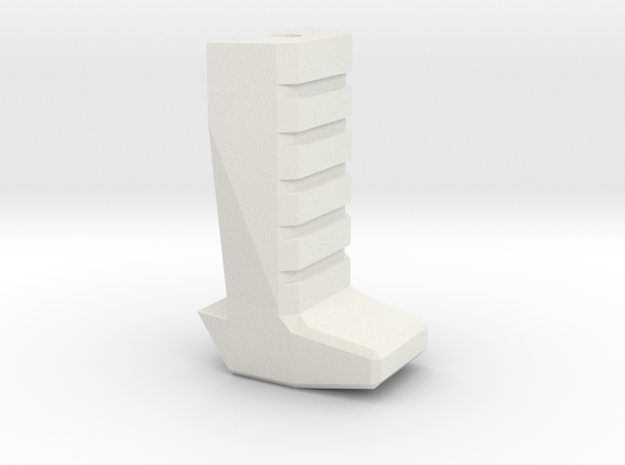 Gladius V1 Grip (part 3 of 5) in White Strong & Flexible